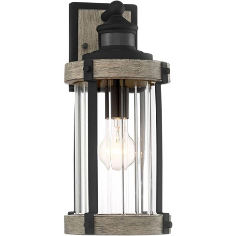John Timberland Rustic Outdoor Wall, Imre 2 Light Outdoor Sconce With Motion Sensor