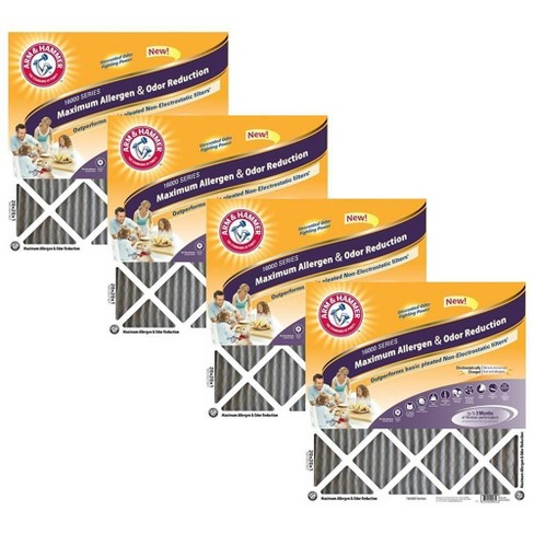 Arm & Hammer 4pk 24x24x1 Maximum Allergen Air Filter White - image 1 of 1