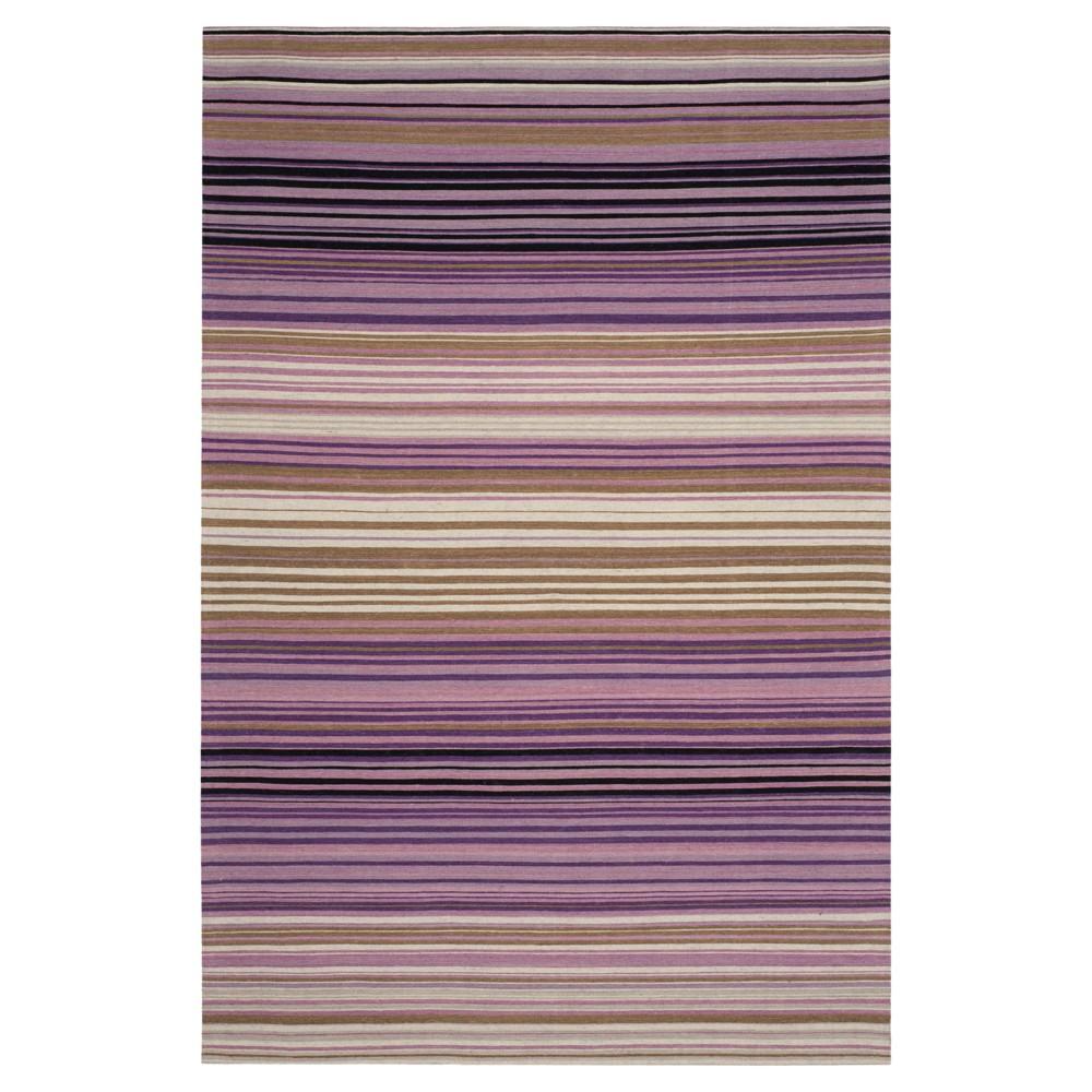 White/Lilac Stripe Woven Area Rug - (8'X10') - Safavieh