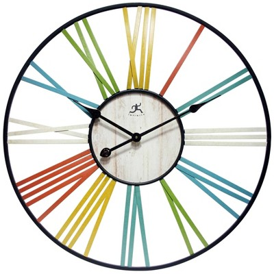 "27"" Wagon Wheel Wall Clock - Infinity Instruments"