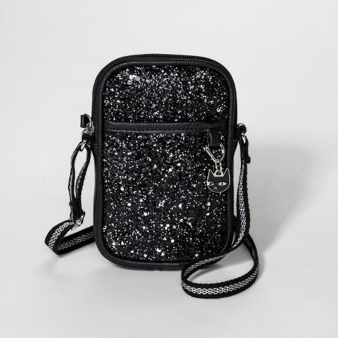 626d95367c Girls  Glitter Crossbody Bag - Cat   Jack™ Black   Target