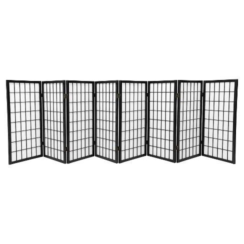 3 ft. Tall Window Pane Shoji Screen (8 Panels) - Oriental Furniture - image 1 of 1