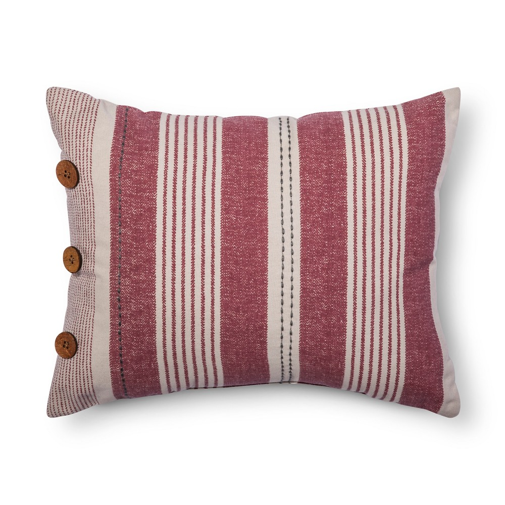 "Image of ""Red Independence Throw Pillow (12""""x16"""") - Beekman 1802 FarmHouse"""