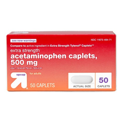 Acetaminophen Extra Strength Pain Reliever & Fever Reducer Caplets - Up&Up™  : Target