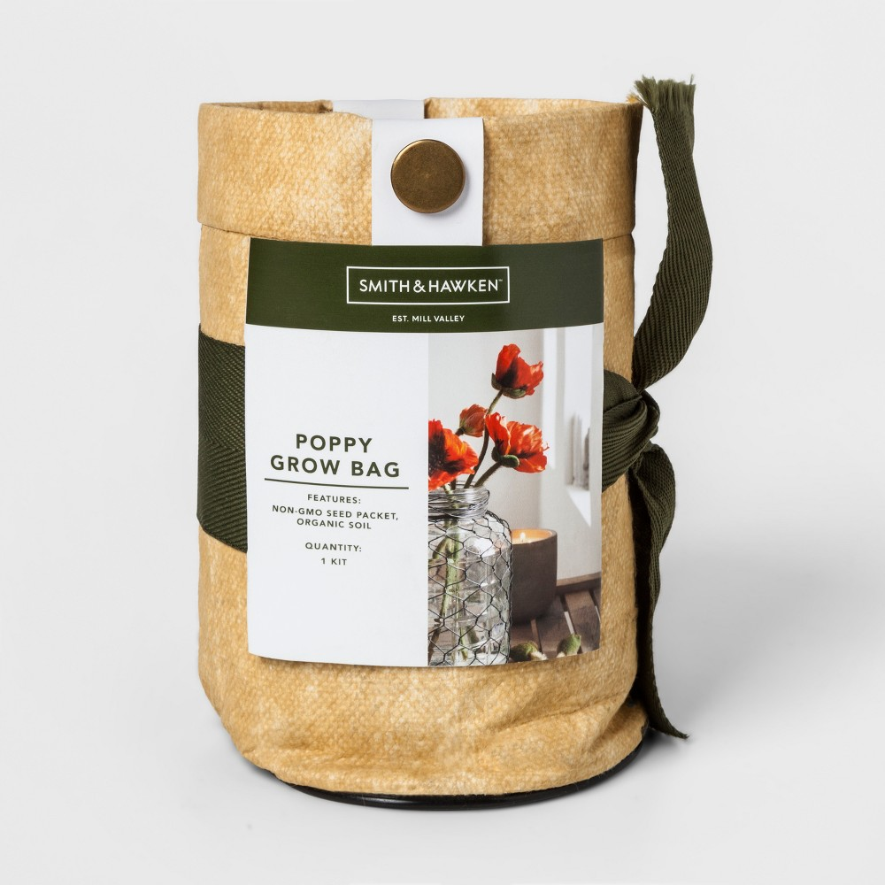 Grow Kits Poppy - Smith & Hawken, Milestone Beige