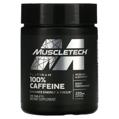 Muscletech Platinum 100% Caffeine, 220 mg, 125 Tablets, Sports Nutrition Supplements