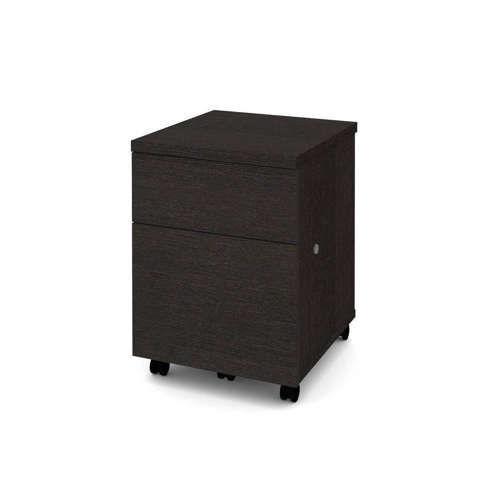 Image of 1U1F Mobile File Cabinet Deep Gray - Bestar