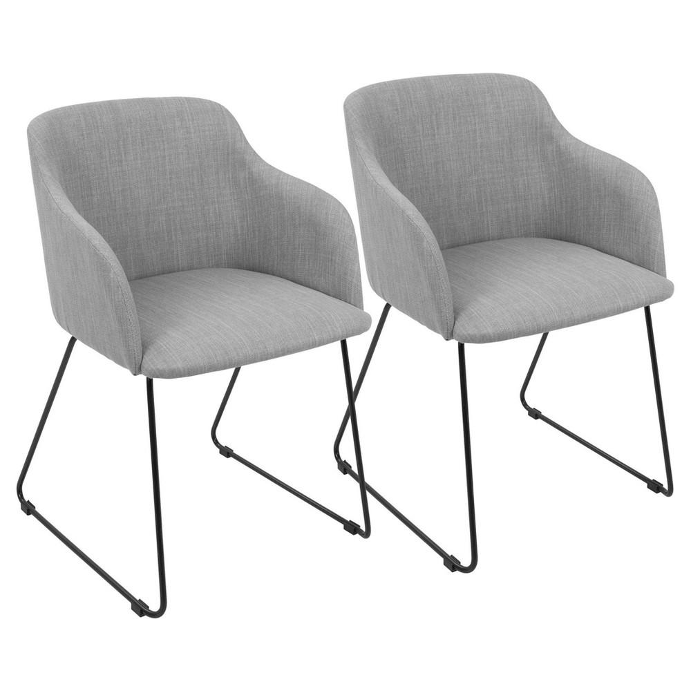Daniella Contemporary Chair (Set of 2) - Light Gray - Lumisource