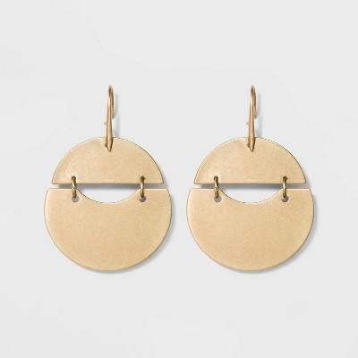 Rounded Shaky Drop Earrings - Universal Thread™ Gold