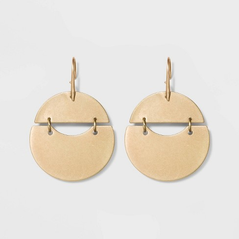 Rounded Shaky Drop Earrings - Universal Thread™ Gold - image 1 of 3