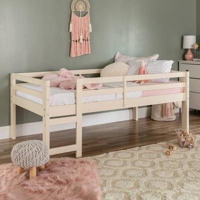Solid Wood Low Loft Bed - Saracina Home