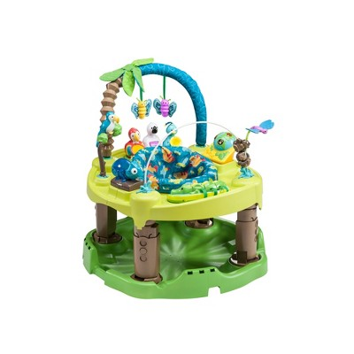 Evenflo ExerSaucer Triple Fun Saucer Life In The Amazon Baby Bouncer Seat Walker Play Activity Center, Green