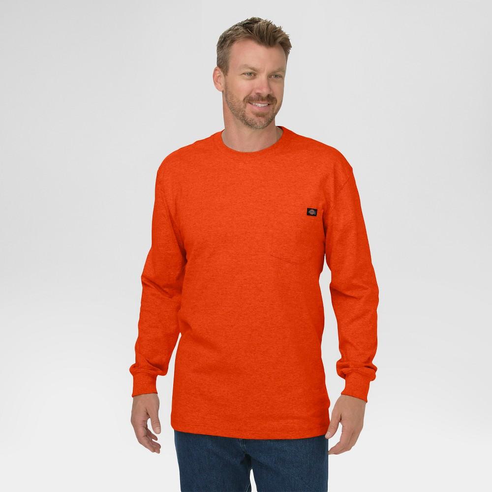 Dickies Men's Big & Tall Cotton Heavyweight Long Sleeve Pocket T-Shirt- Orange Xxl Tall