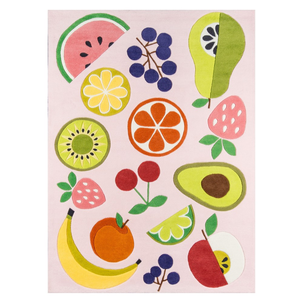 5'X7'6 Fruit Tufted Area Rug Pink - Novogratz By Momeni