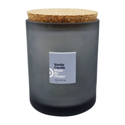 16.9oz Lidded Frosted Jar Vanilla - Made By Design™