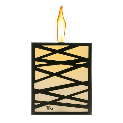 Urban Metal Square Outdoor Table Torch - Clean Burn - Tiki