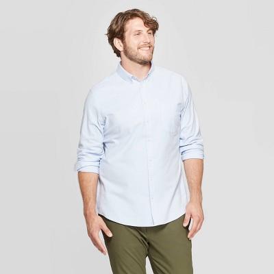 Men's Standard Fit Stretch Oxford Long Sleeve Button-Down Shirt - Goodfellow & Co™
