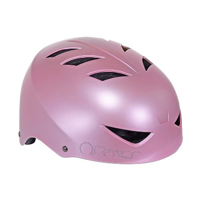 Razor 97863 V-12 Adult One Size Safety Multi Sport Bicycle Helmet with 12 Cooling Vents, Adjustable Strap, and Padding, Satin Pink Quartz