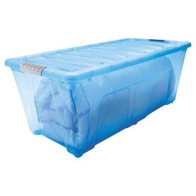 IRIS 83 Qt. Modular Plastic Storage Bin   5pk : Target