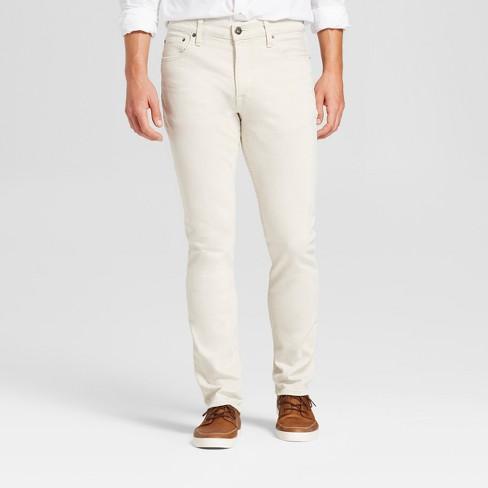 Men's Slim Fit Jeans - Goodfellow & Co™ Tan 38x30 - image 1 of 4
