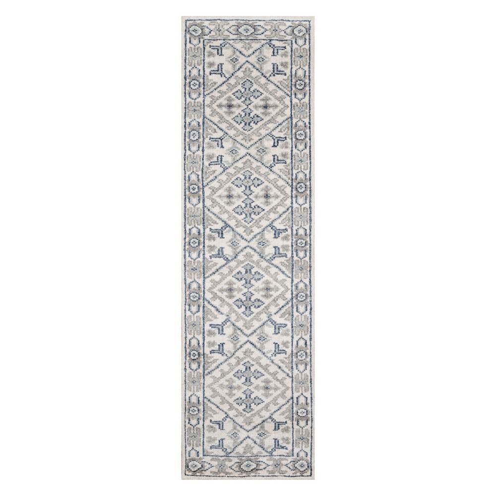 2'3X8' Floral Knotted Runner Ivory - Momeni