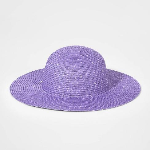 9dd214f941959c Girls' Floppy Hat - Cat & Jack™ Purple One Size : Target