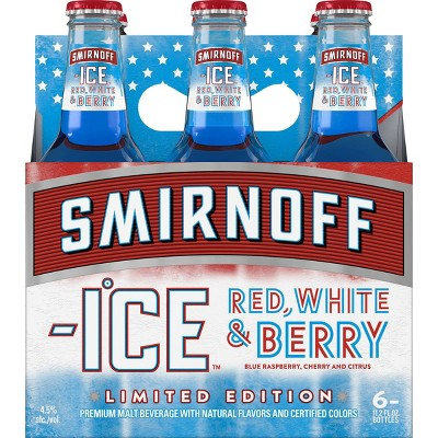 Smirnoff Ice Red White & Berry - 6pk/11.2 fl oz Bottles