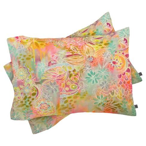 Stephanie Corfee Everything Nice Lightweight Pillowcase Standard Yellow - Deny Designs - image 1 of 1