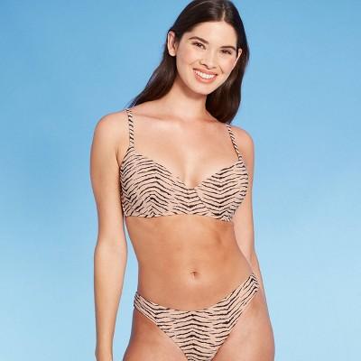 Women's Light Lift Bralette Bikini Top - Shade & Shore™ Animal Print Lurex