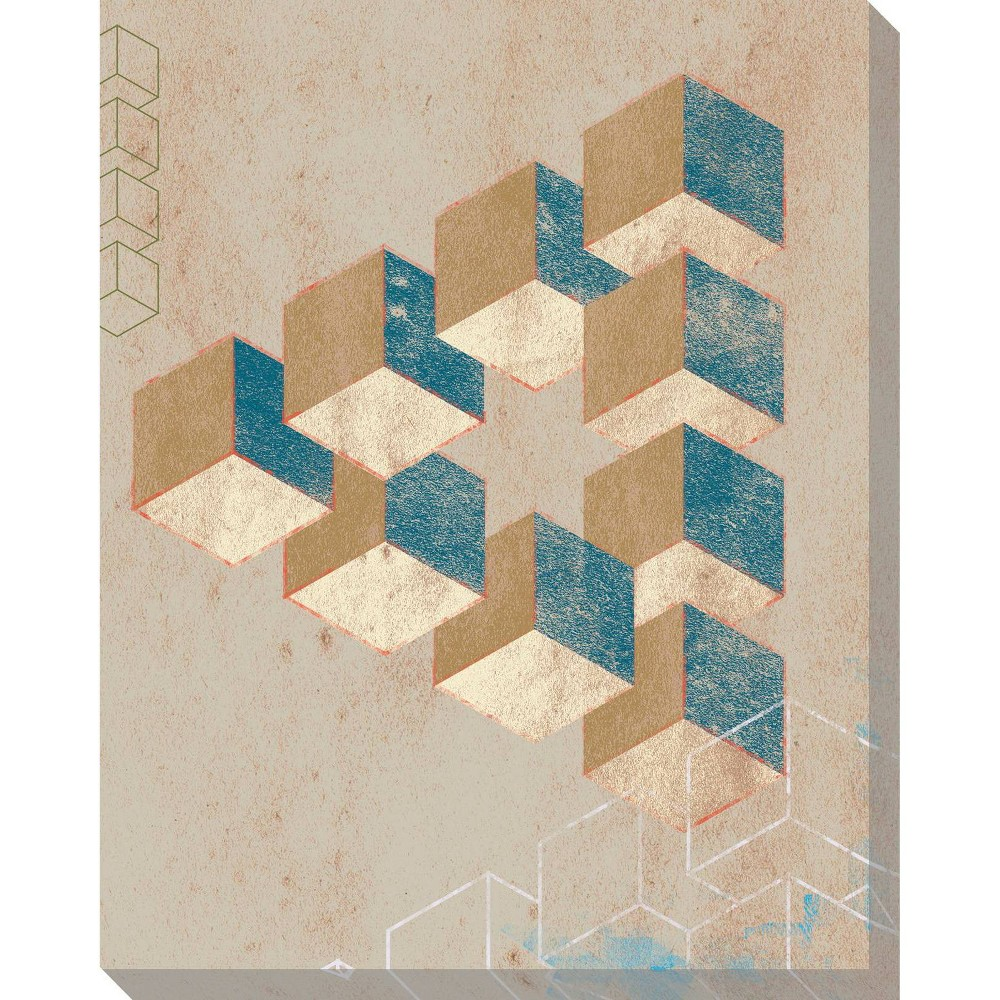 Image of Impossible Triangle Unframed Wall Canvas Art - (24X30)