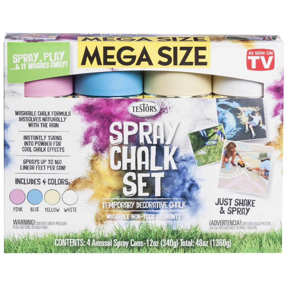Image of As Seen on TV 4pk Spray Chalk, Multi-Colored