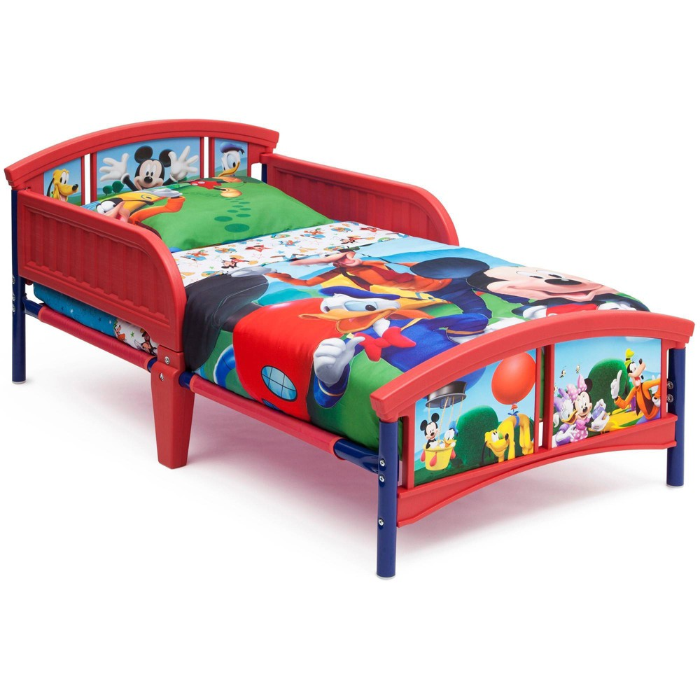 Image of Toddler Disney Mickey Mouse Bed - Delta Children