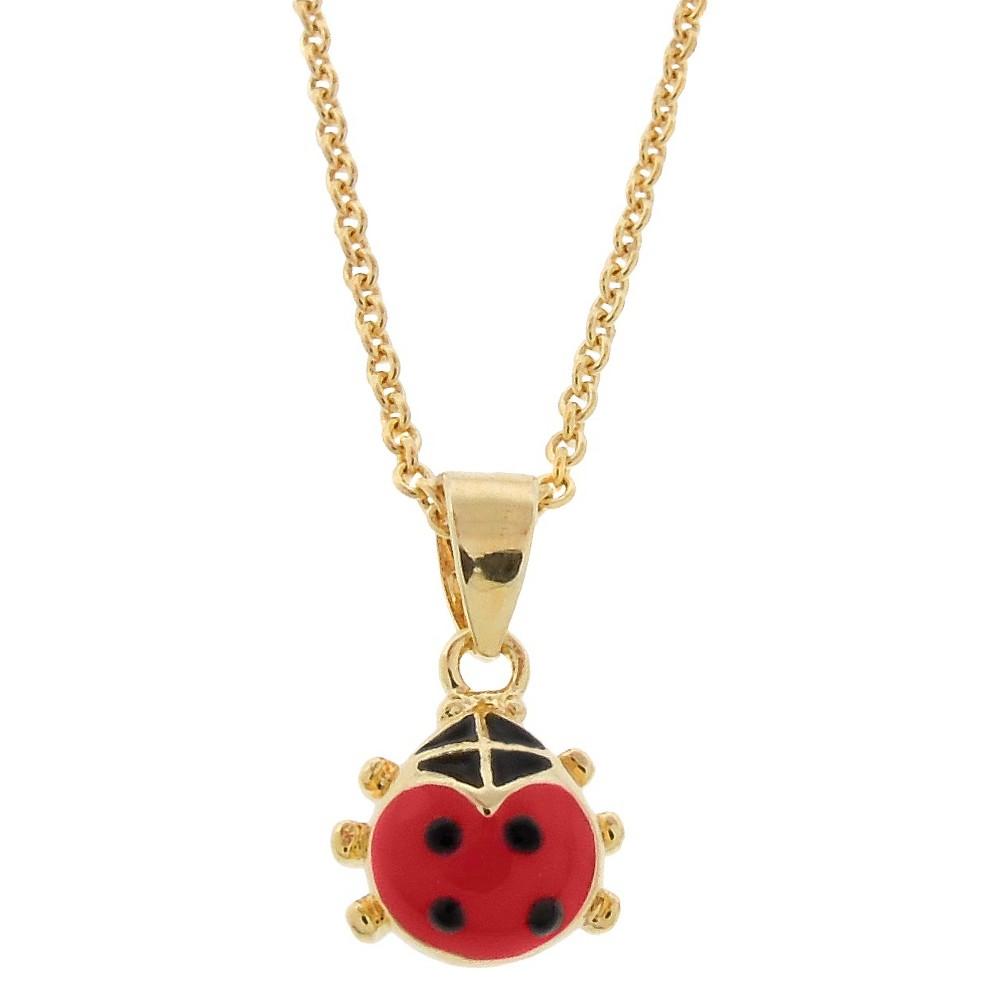 Target Ellen 18l Gold Overlay Enamel Ladybug Pendant - Re...