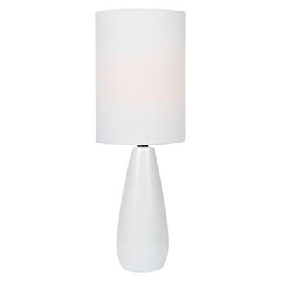 Quatro Table Lamp 17  Brushed White (Includes Energy Efficient Light Bulb)- Lite Source