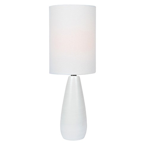 Quatro Table Lamp 17 Brushed White Only Lite Source