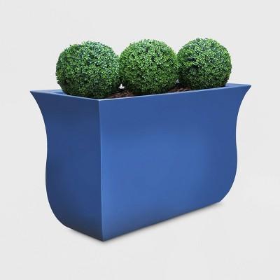 "22"" Valencia Trough Rectangular Planter Neptune Blue - Mayne"
