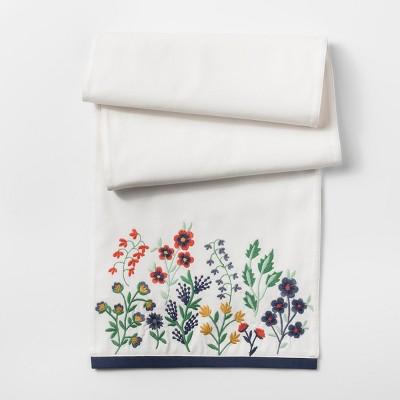 White Floral Table Runner - Threshold™