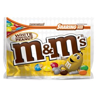 M&Ms White Chocolate Peanut Candies- 9.6oz