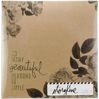 "Heidi Swapp Storyline2 D-Ring Album 8.5""X11""-Floral"