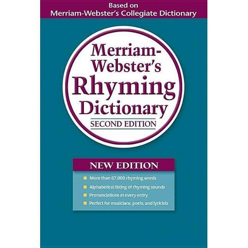 Merriam-Webster's Rhyming Dictionary - 2 Edition (Paperback) - image 1 of 1