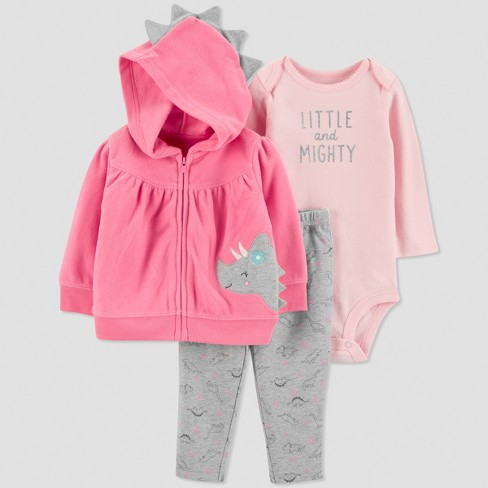 2282656a104 Baby Girls  3pc Dino Cardigan Set - Just One You® made by carter s Pink