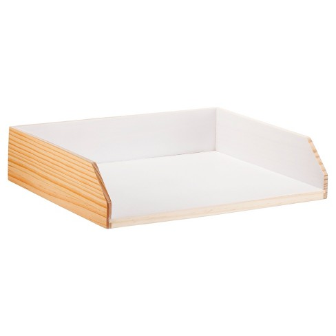 Paper Tray, Light Wood/White - Threshold™ - image 1 of 1