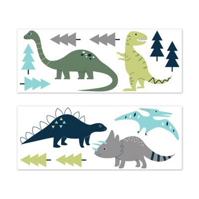 Mod Dinosaur Large Wall Decal Stickers - Sweet Jojo Designs