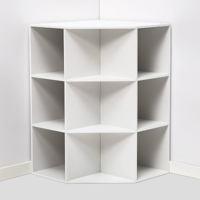 Corner Cube Bookshelf White - Room Essentials™