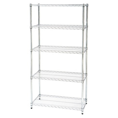 "Seville Classics 5-Shelf UltraZinc Steel Wire Shelving System (18""x36""x72"") - image 1 of 8"