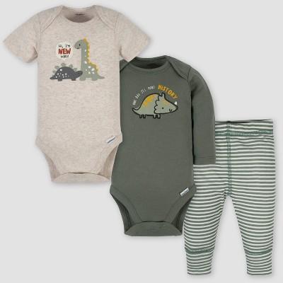 Gerber Baby Boys' Take Me Home Dino Top and Bottom Set - Green 0-3M