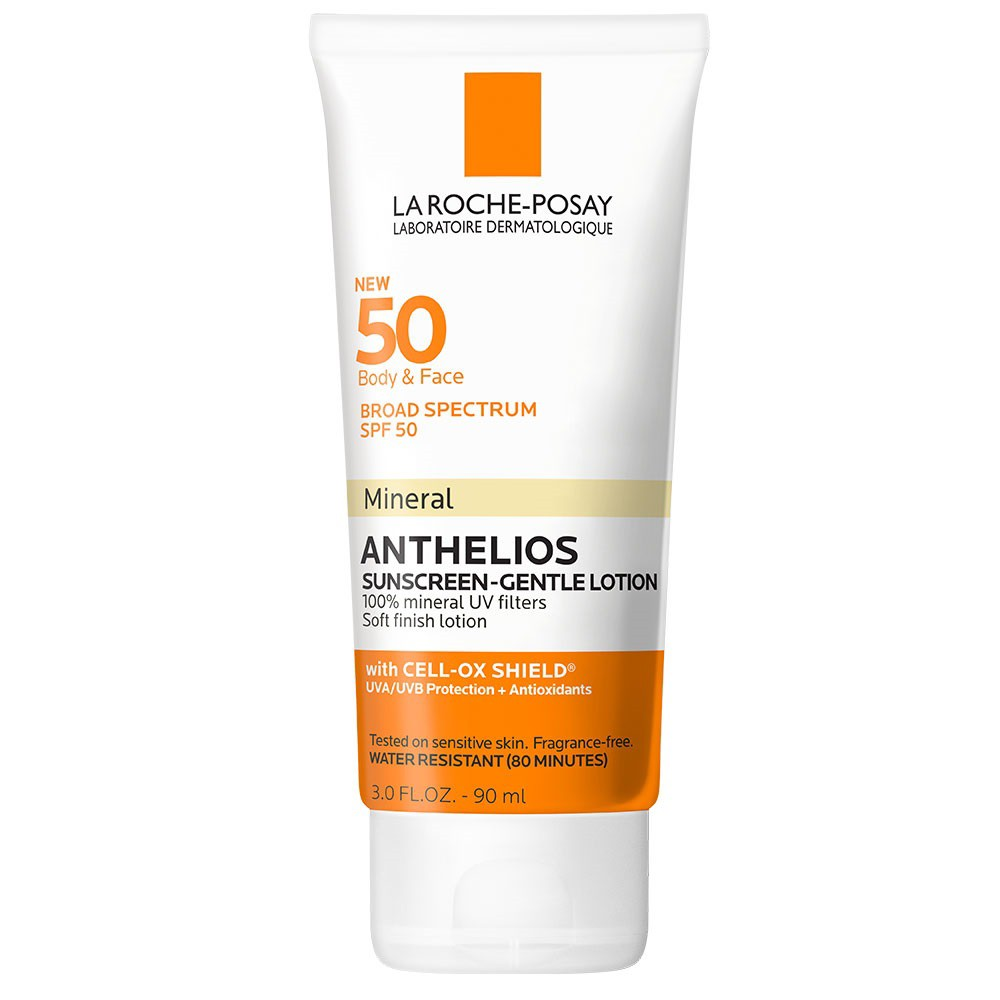 Image of La Roche-Posay Anthelios Body And Face Soft Finish Mineral Sunscreen Lotion - SPF 50 - 3.04 fl oz