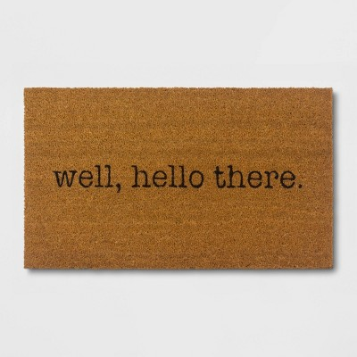 Well, Hello There Doormat - Black/Beige - Room Essentials™