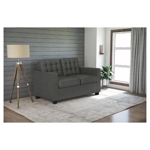 Avery Sleeper Sofa With Certipur Certified Memory Foam Mattress Twin Gray Signature Sleep Target