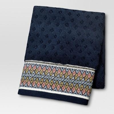 Foulard Border Hand Towels Navy - Threshold™